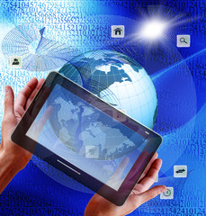 Fototapete - The technology Internet.wireless