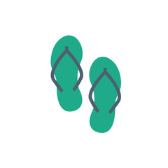 sandals icon vector flat style. holiday icon