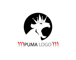 Puma head icon logo template
