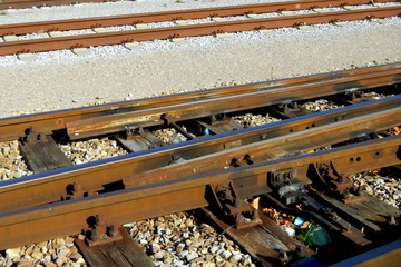 Train, Railway, Detail, Old Tracks