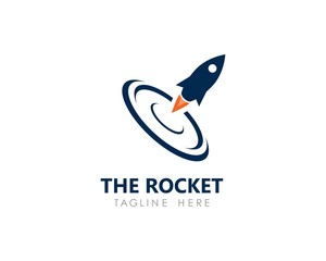 rocket logo icon vector template