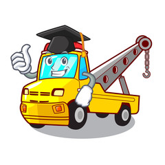 Graduation truck tow the vehicle with mascot