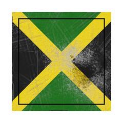 Jamaica flag in concrete square