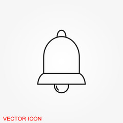 Bell Icon vector in trendy flat style isolated on background.