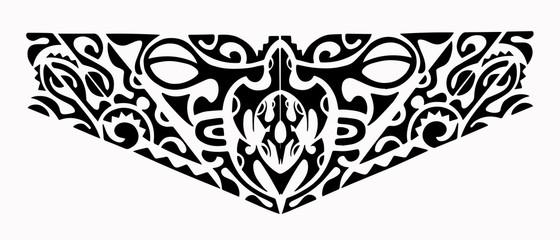 Maori turtle tattoo 2