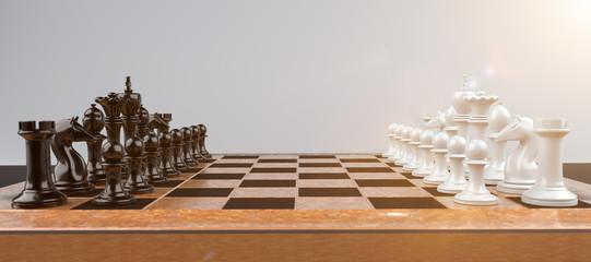 Chess Wooden Chessboard Lens Flare