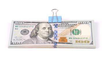Wads of money one hundred dollars