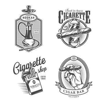 Vintage monochrome lounge bar labels