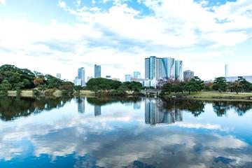 (東京都ー都市風景)秋の浜離宮と近隣の風景6