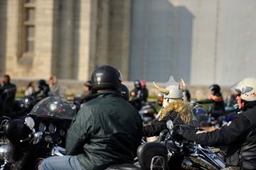 réunion de motards, manifestation