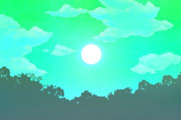 満月の背景