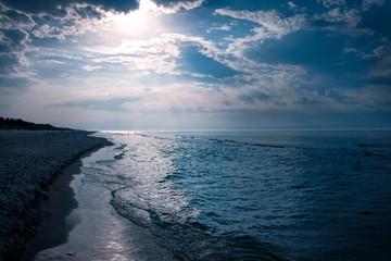 Beautiful Blue Sunset on the Beach