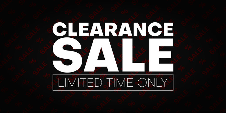 Clearance sale promo banner. Limited time only.
