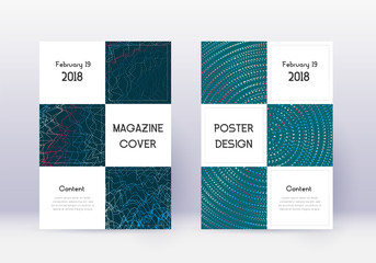 Business cover design template set. Red abstract l