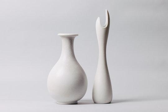 White midcentury ceramics