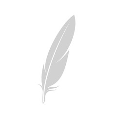 Feather. Isolated icon