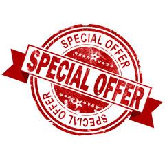 Special offer red vintage stamp