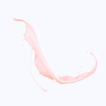 liquid makeup foundation or pink cream, 3d illustration.