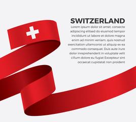 Switzerland flag, vector illustration on a white background
