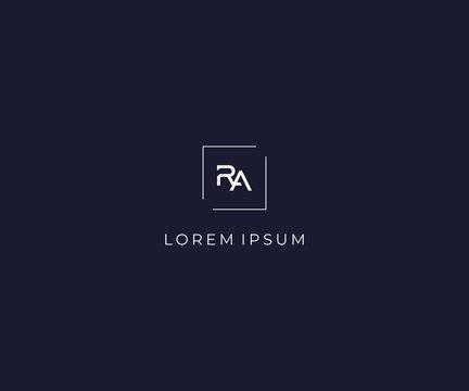 letter RA logo design template