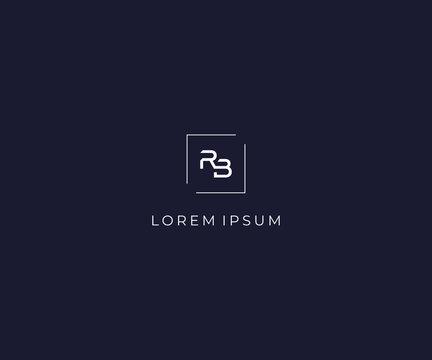letter RB logo design template
