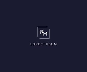 letter RM logo design template