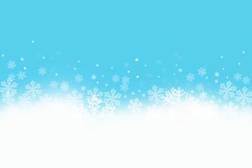 Schneelandschaft mit Schneeflocken