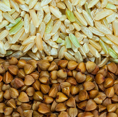 brown rice and buckwheat