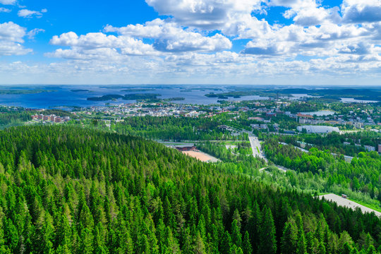 Landscape of Lake Kallavesi and Kuopio