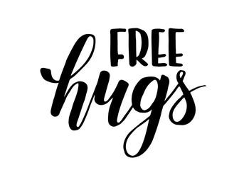 free hugs brush calligraphy