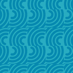 Trendy seamless pattern designs. Vector geometric background. Bright colors and simple shapes. Mosaic texture. Can be used for wallpaper, textile, invitation card, wrapping, web page background.