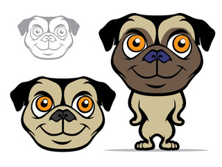 Pug Cartoon Mascot