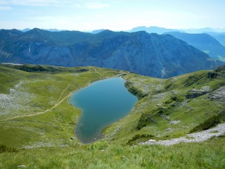 Lake in the Alps, Auerlingsee, Loser, Austria in Summer