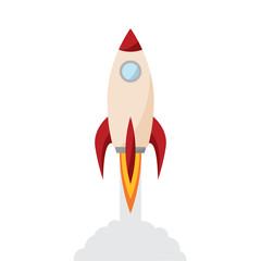 Rocket in fly
