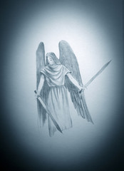 angel with two swords