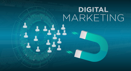Digital Marketing Abstract Illustration Background