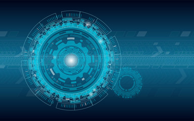 Abstract Tech Technology Web Background Vector Concept
