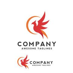 creative phoenix bird logo concept, eagle fly logo vector design concept