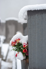 Friedhof im Winter
