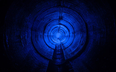 Underground city sewer tunnel.