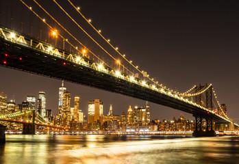 ニューヨーク マンハッタン・ブリッジとマンハッタン