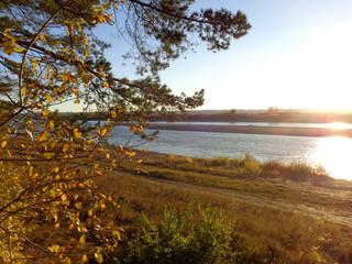 autumn landscape with river