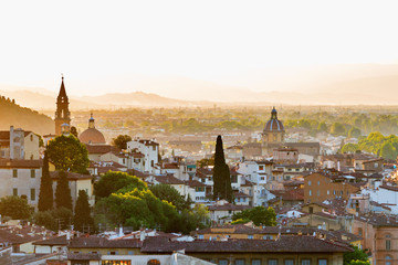 Cityscape of Florence in Italy in the evening light