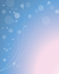 Background-Abstract Blue and Pink with Bubbles