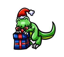 Happy Christmas T Rex
