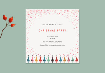 Colorful Christmas Party Invitation Layout