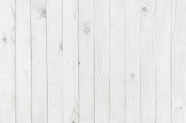 Wall Mural - white wood texture background, wooden table top view
