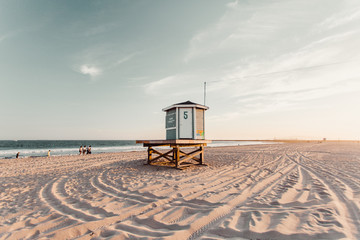 Lifeguard hut on a beach
