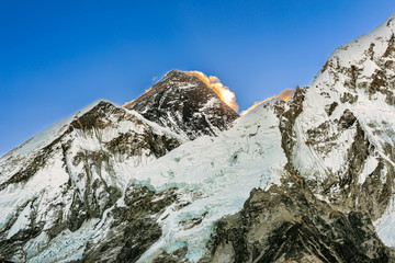 Mt. Everest peak panoramic view from Kala Patthar.