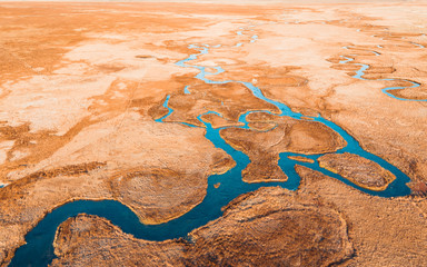 Aerial of the Owens River